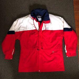 Vintage Fera red white & blue winter ski jacket